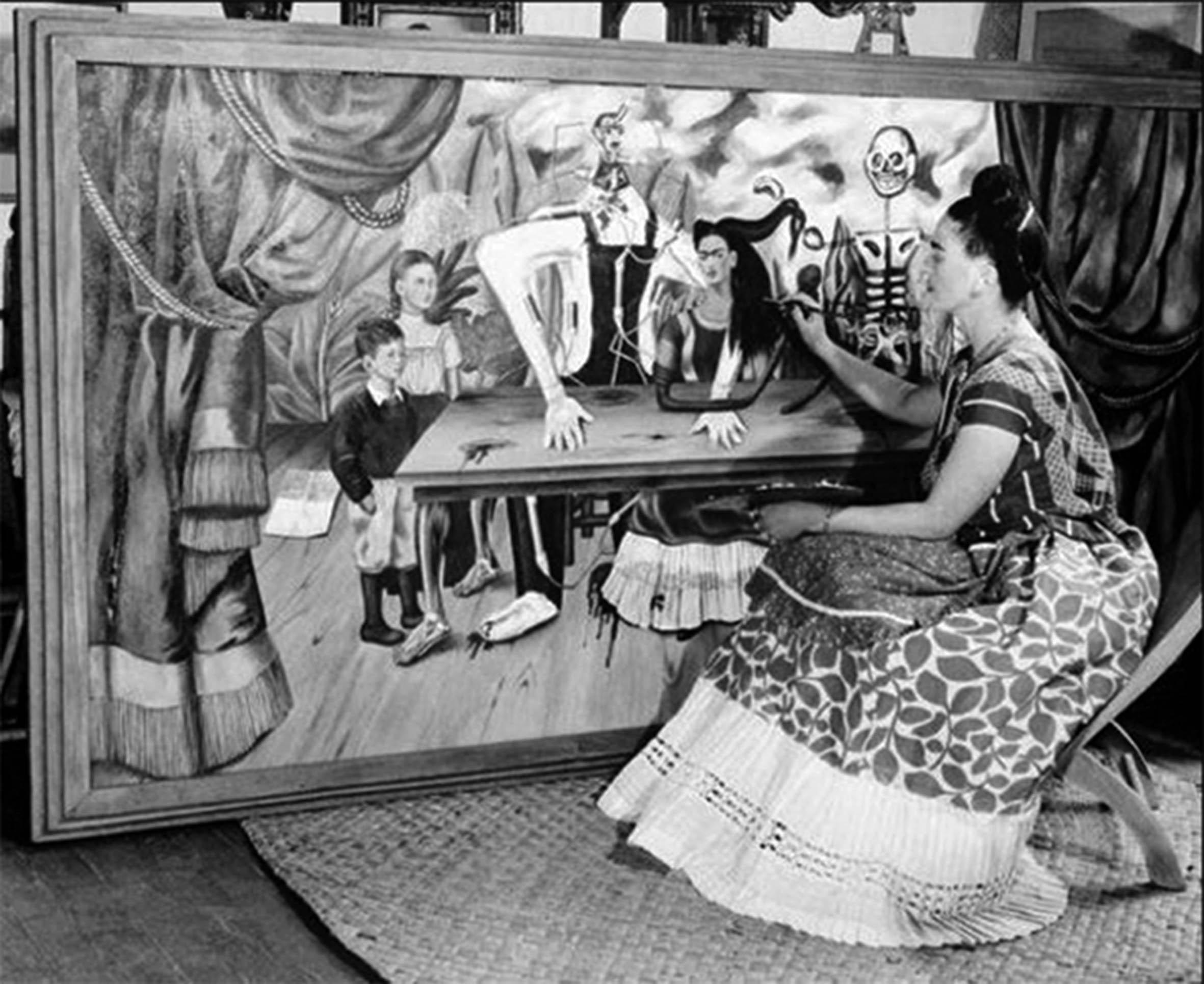 """""""La Mesa Herida"""", obra más buscada de Frida Kahlo-UNAM"""